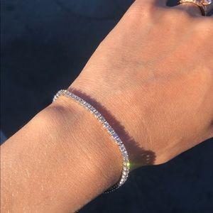 VS2 Diamonds 14k White Gold Tennis Bracelet 4 tcw
